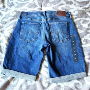 New Lucky The Bermuda Cuffed Jean Shorts